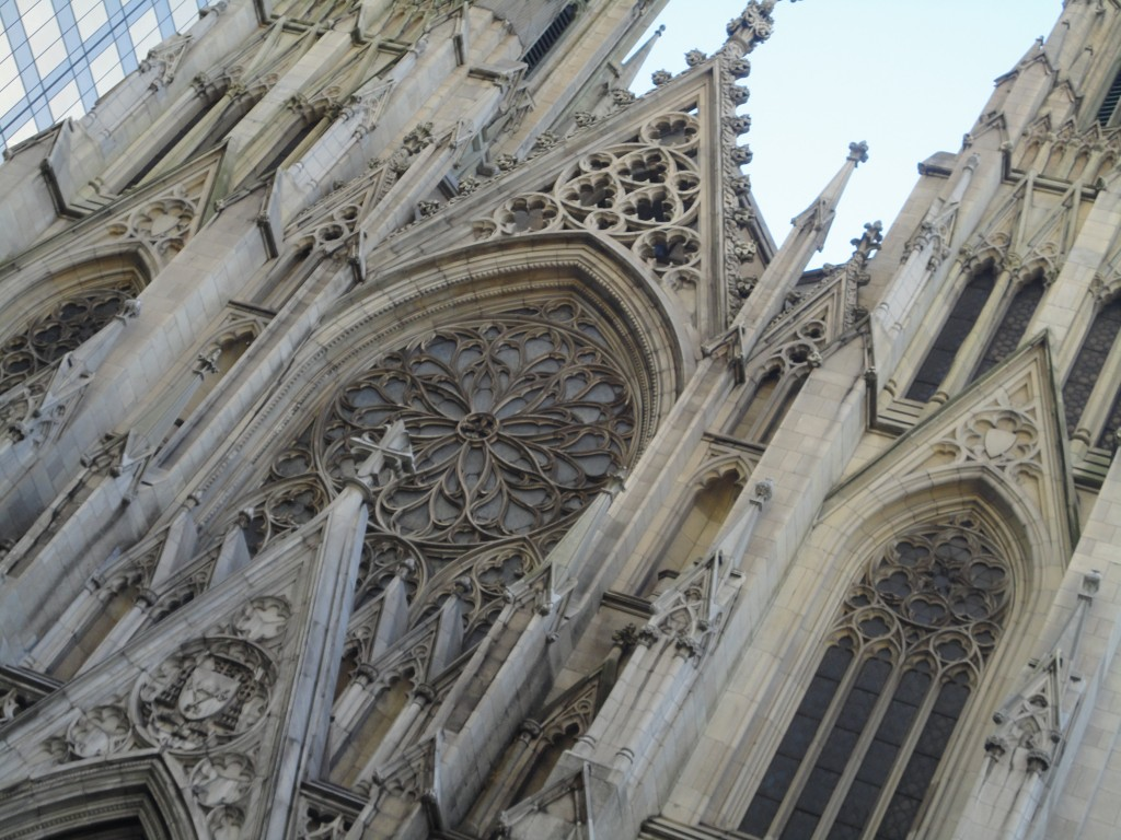 Saint Patrick's Cathedral, New York City, Neo-Gothic Architecture. Stone