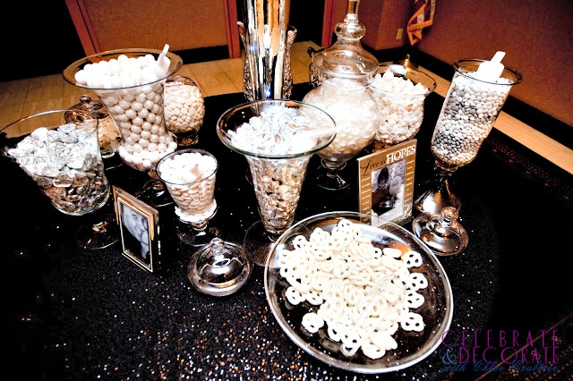 Black and White and Silver Wedding Candy Bar.jpg
