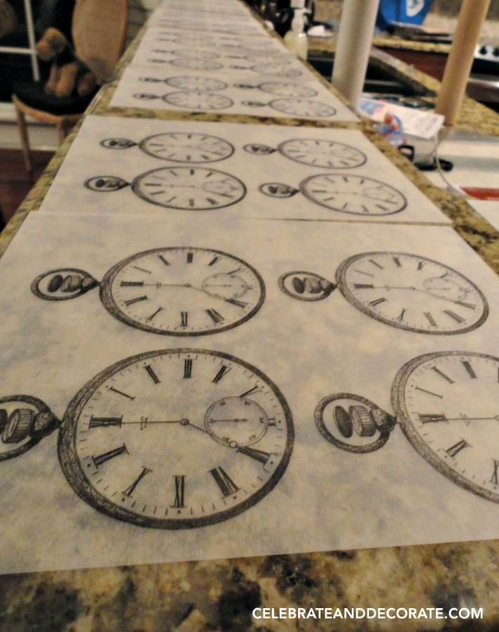 Clock themed unique invitations