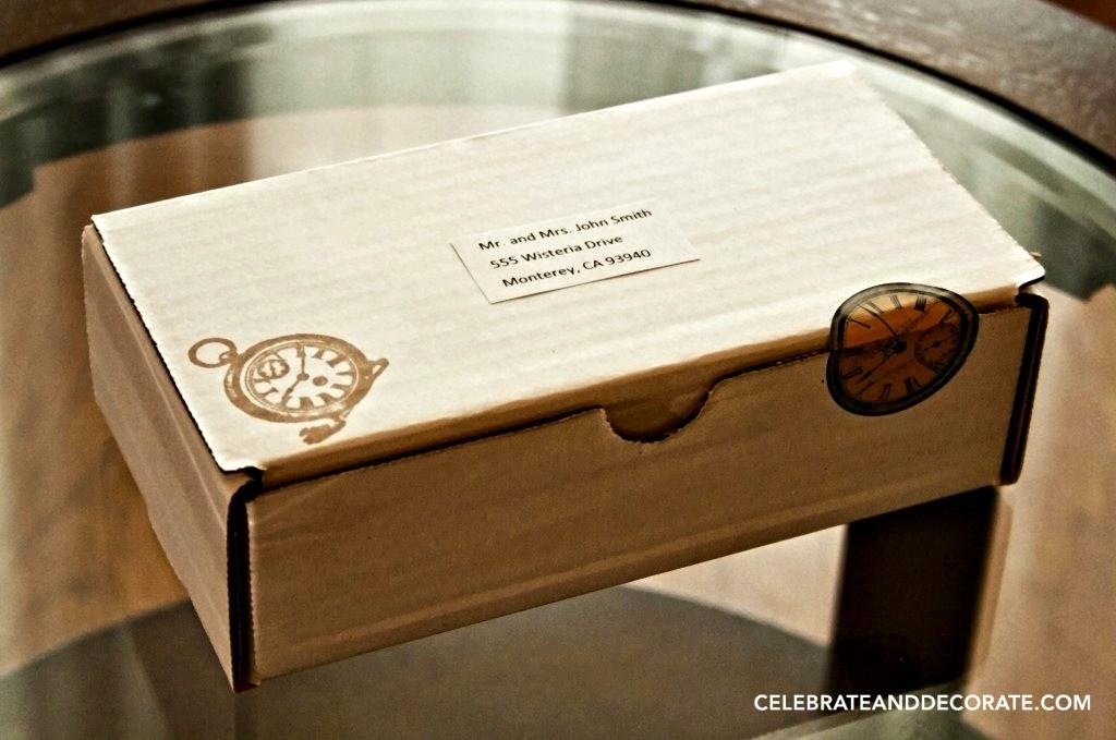 Creative invitation in a box
