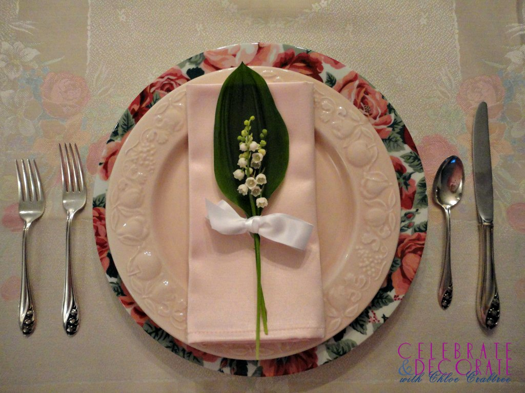Lily of the Valley Tablesetting