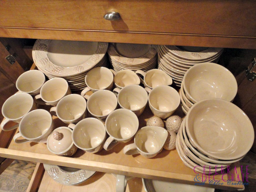 Lots of pinecone dishes