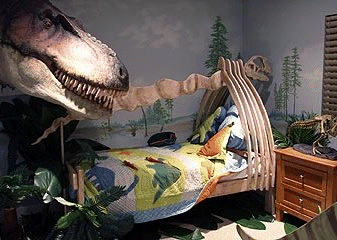 Dinosaur themed bed
