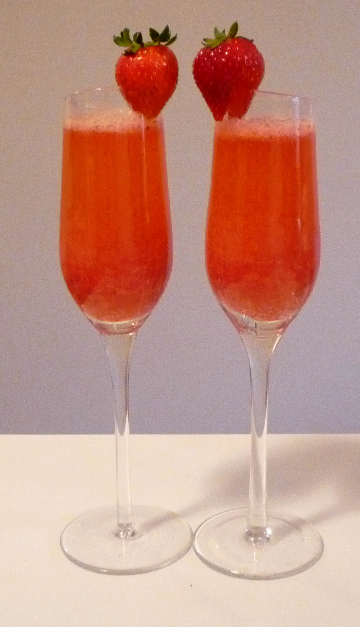Strawberry Bellini, strawberry and champagne