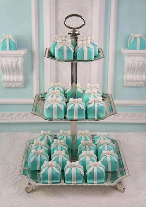 Tiffany blue boxes with little white bows