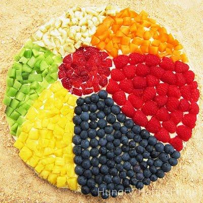 pool party food, fruit display,