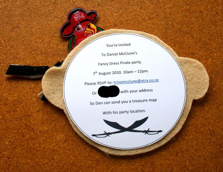 pirate invitations, crossed swords, pirate
