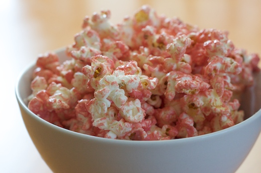 Pink popcorn for a pink party