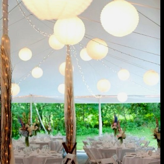 tent decor for a party, decorate a tent for a wedding, hiding the poles in a tent