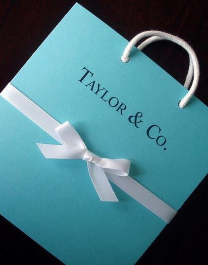 Tiffany bag invitation for a 13th birthday party