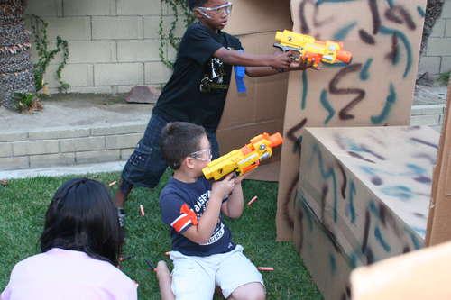 Nerf gun battle