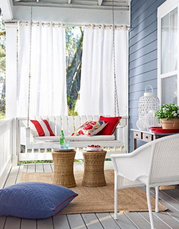 Lemonade on the porch swing.