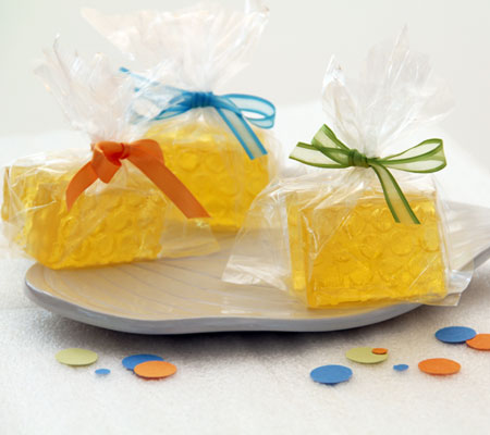honeycomb homemade soap favors for a winnie the pooh baby shower