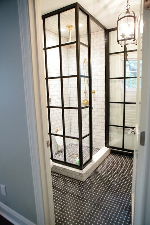 Gorgeous glass shower enclosure