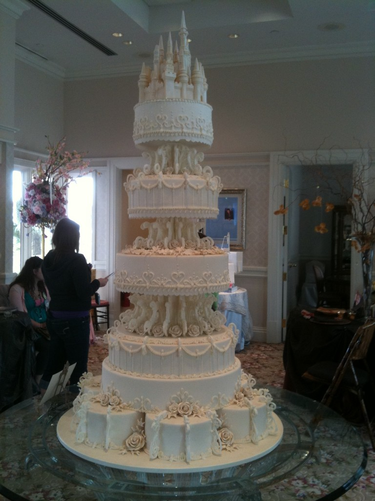 Walt Disney World Wedding Pavilion Grand Castle Wedding Cake