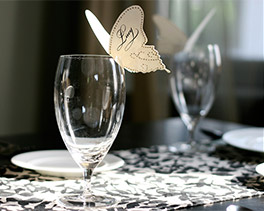 butterfly party or wedding theme, butterfly place cards