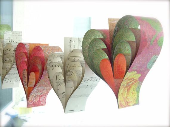 3D Layered Hearts Garland