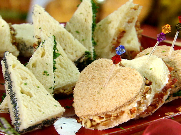 Tea sandwiches, finger sandwiches for a baby shower
