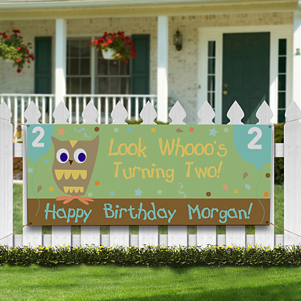 Second birthday owl celebration with Look Whoooo's Two Birthday Banner