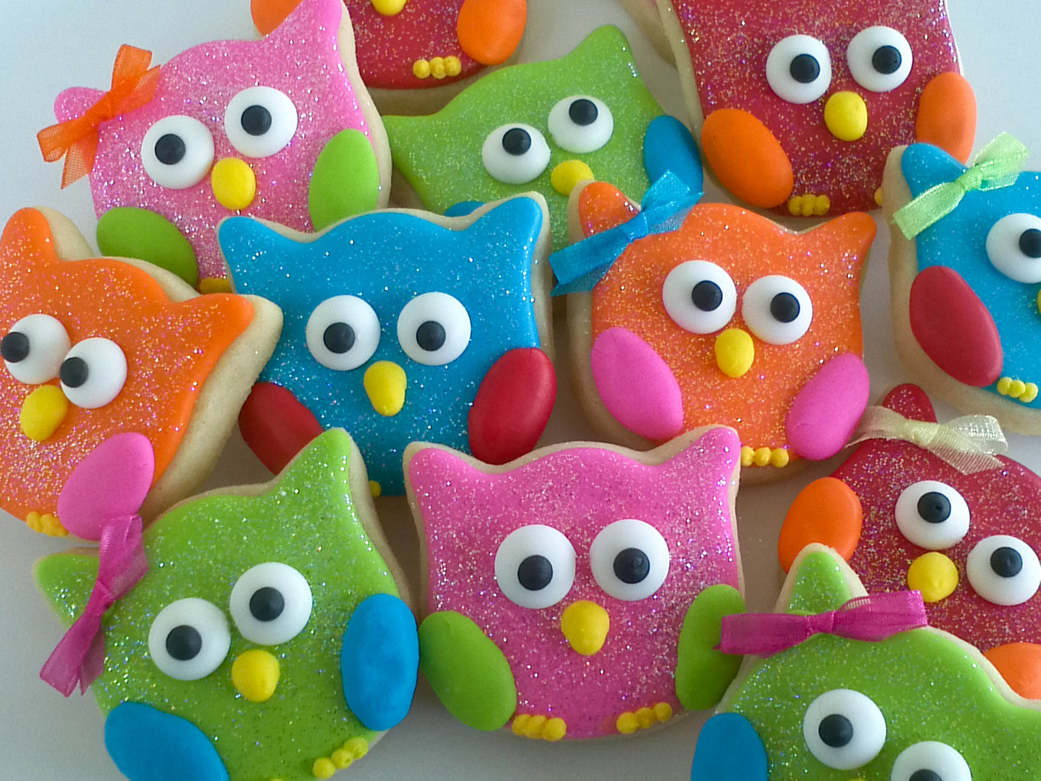 cute owl cookies with Jordan almonds for wings