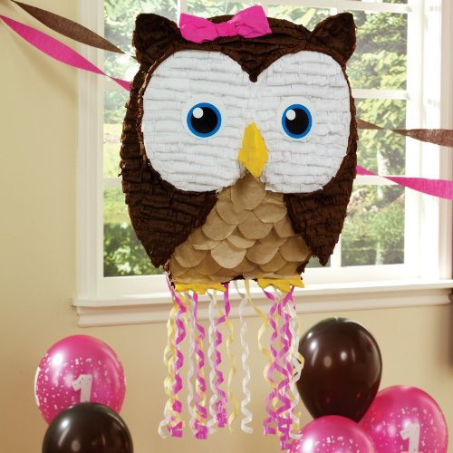 Owl Piñata for an owl-themed birthday party.
