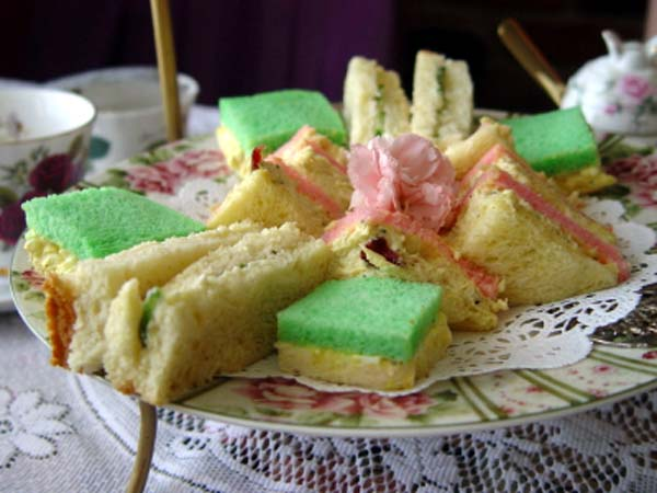 Tea Sandwiches, finger sandwiches, ladies tea party-CelebrateandDecorate.com
