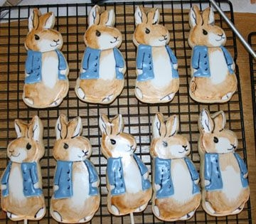 Peter rabbit cut out cookies