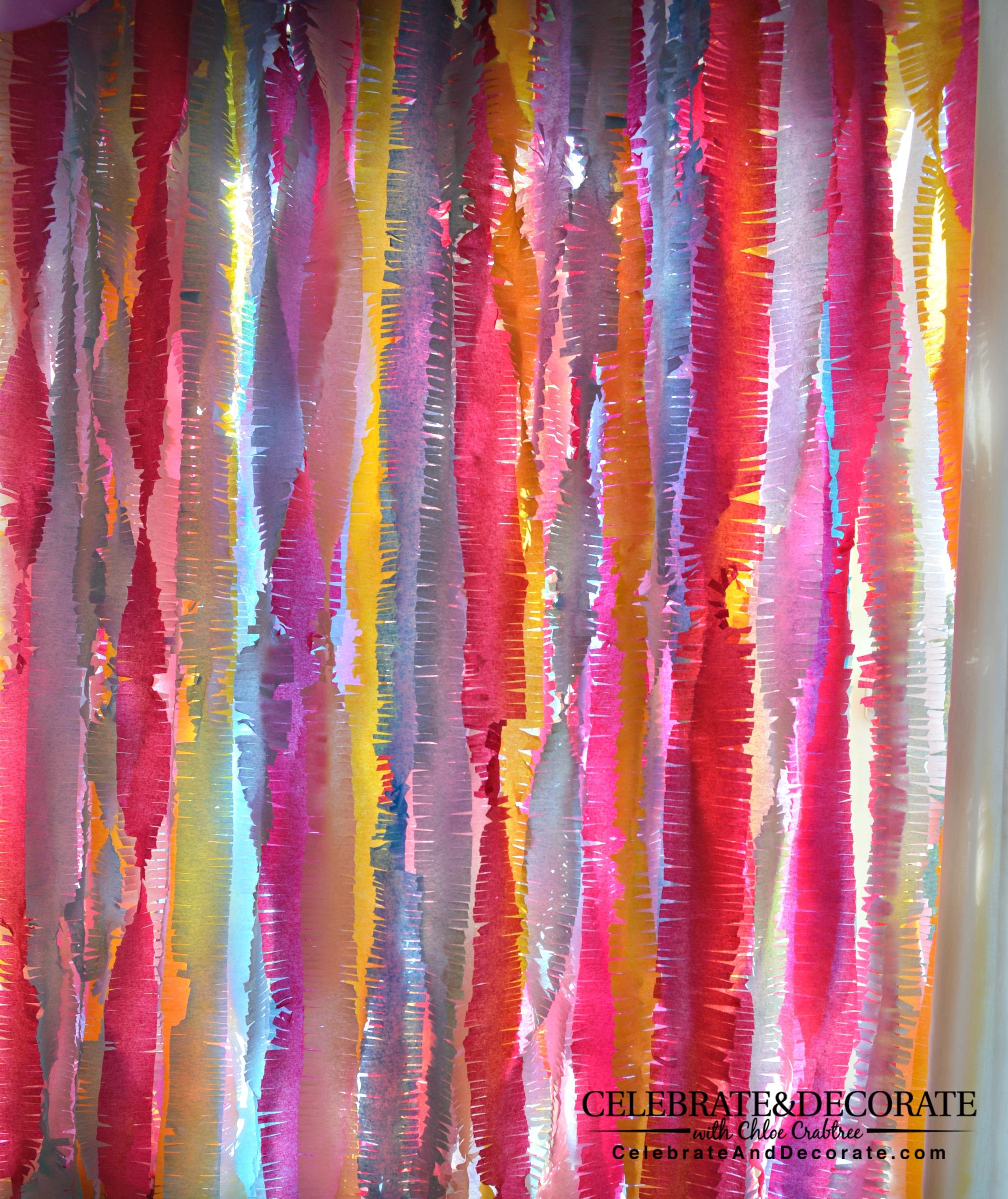 Chloe S Tips Crepe Paper Backdrop Tutorial Celebrate Decorate