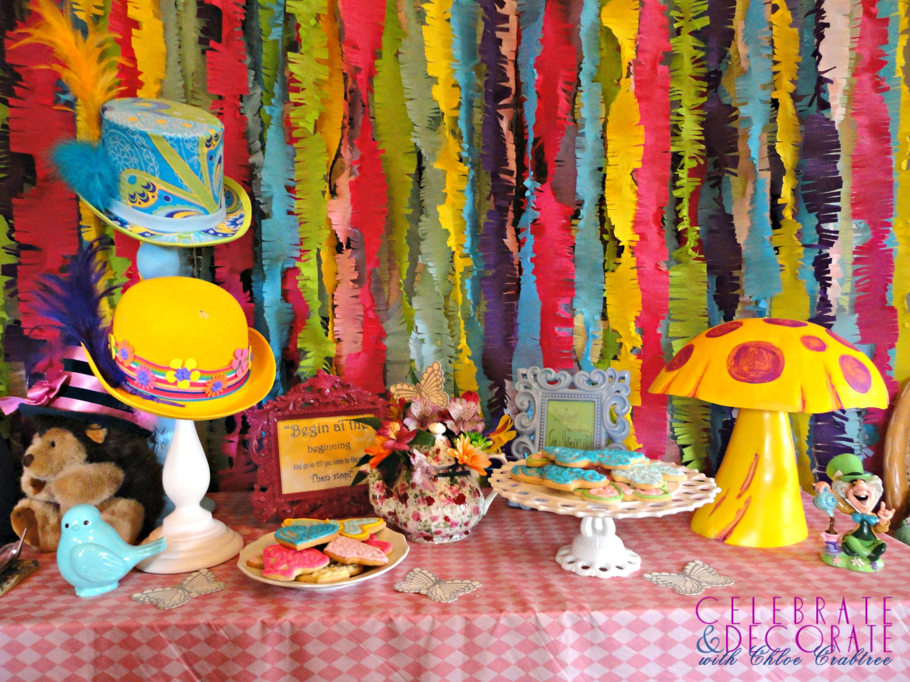 Alice In Wonderland Decorations Chloes Celebrations Alice In Wonderland Baby Shower Celebrate