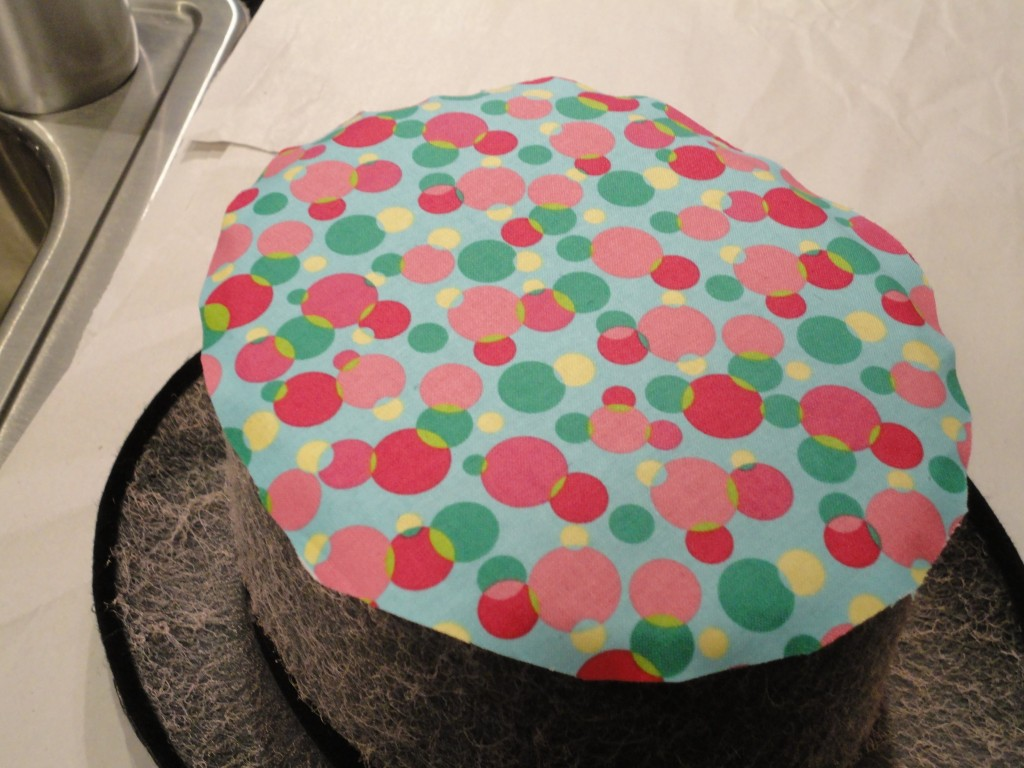 covering a top hat with fabric