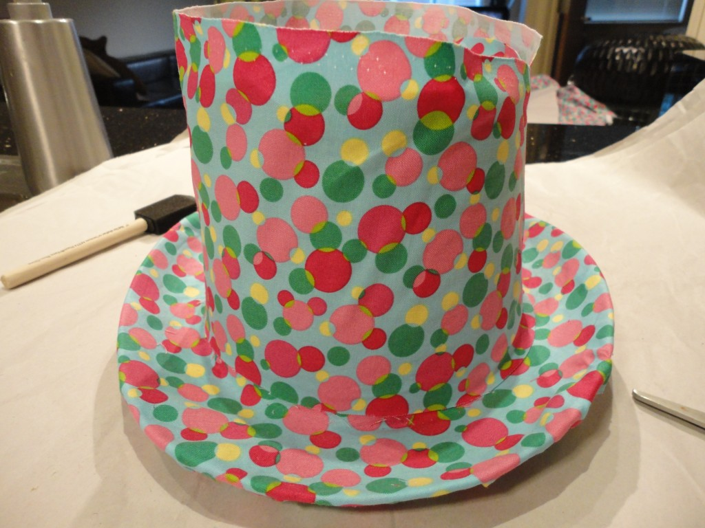 create a fun hat by covering with fabric