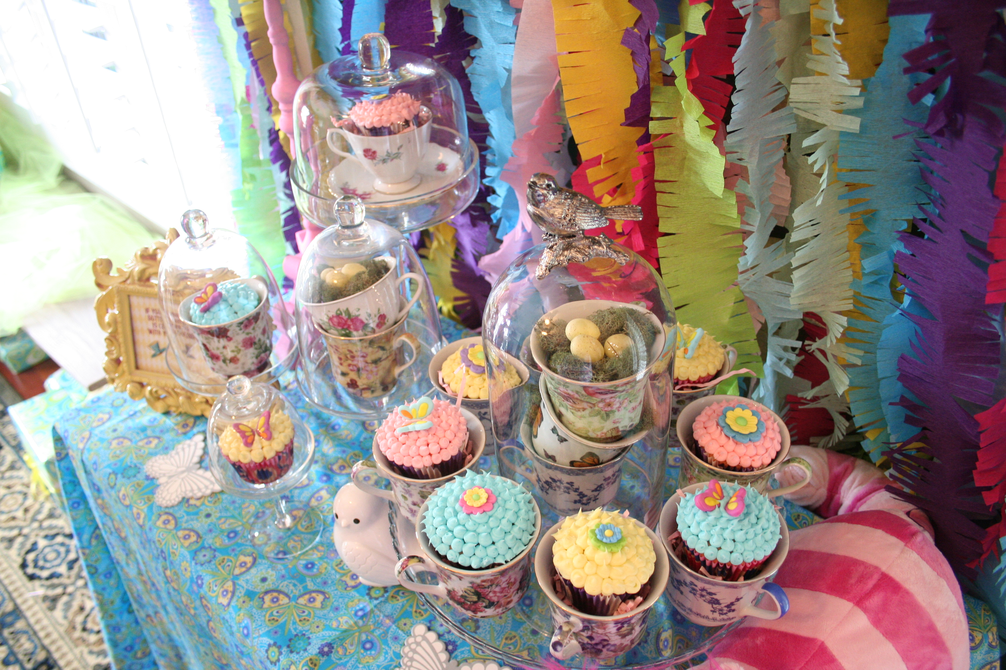 Alice in Wonderland Baby Shower - Cupcake Display