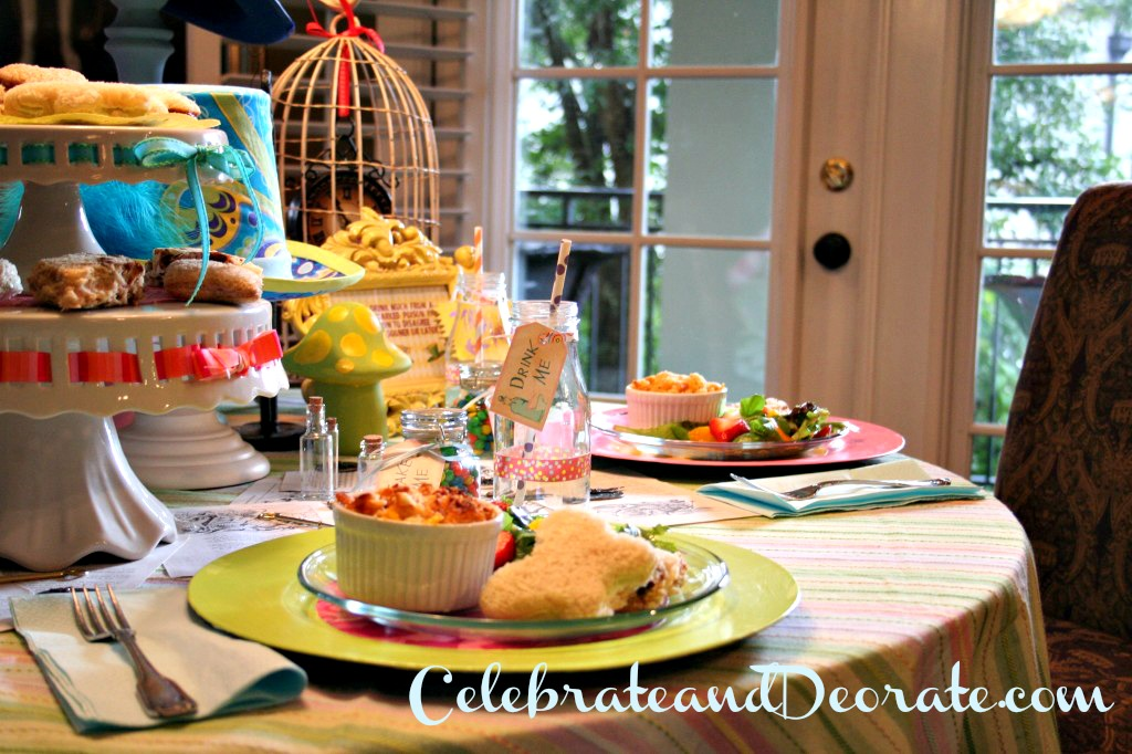 Alice in Wonderland Baby Shower Luncheon