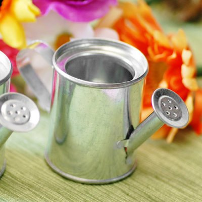 Miniature watering cans for party favors and decor