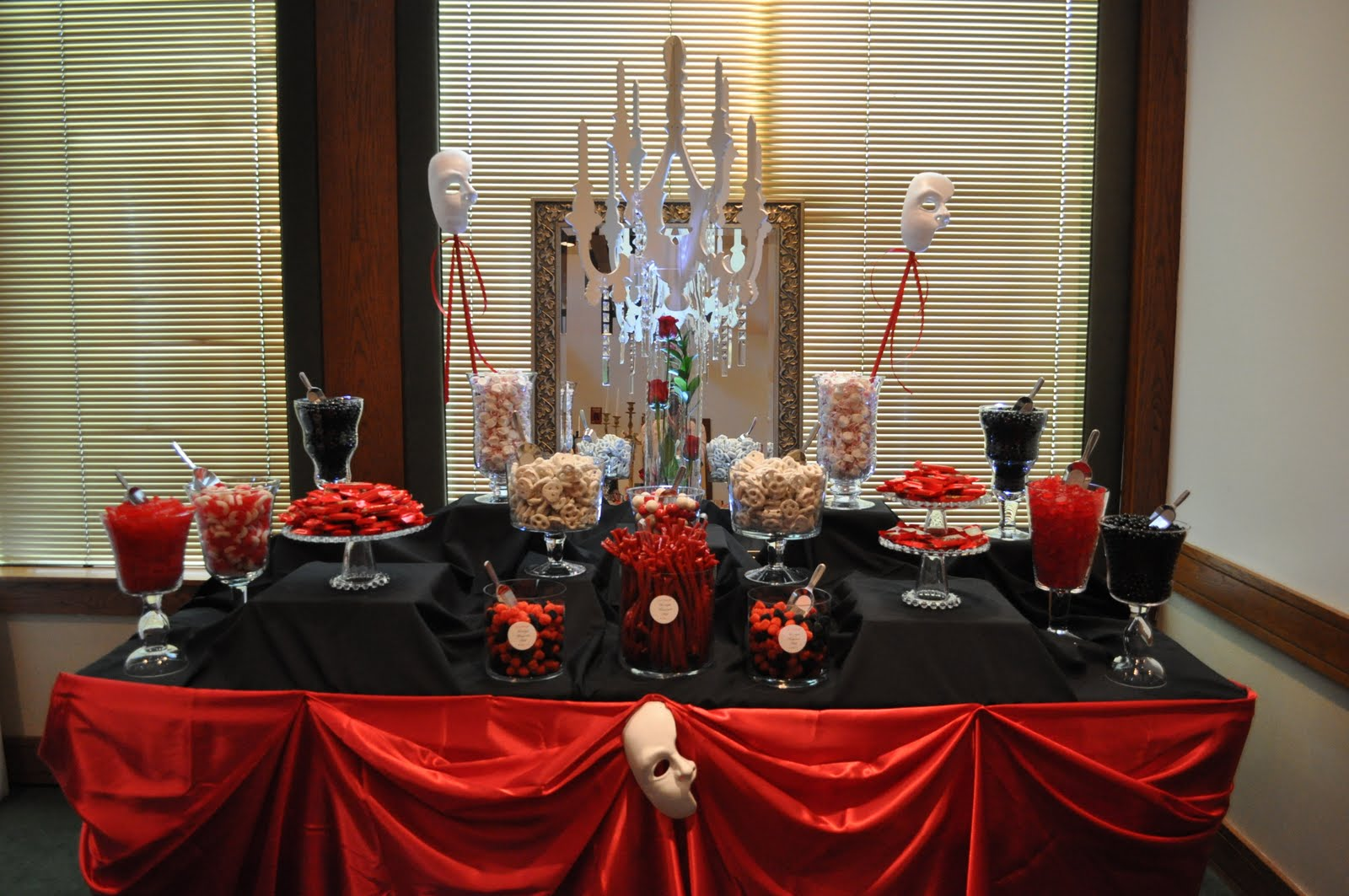 Red an black Halloween Candy buffet