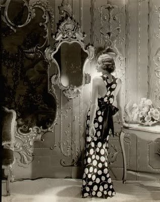 Old Hollywood, old hollywood vanity, 1940's Vogue,