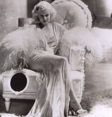 Jean Harlow in Dinner at Eight, vintage hollywood vanity pictures