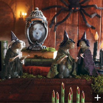 Haunted ash urn Halloween decor