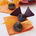Bat Bites appetizers for a Halloween Party