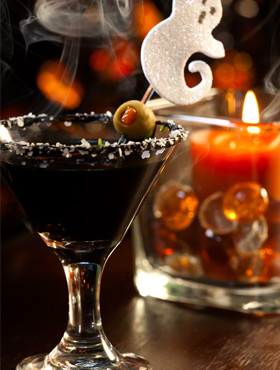 Black Martini recipe and lots of other scary cocktails for Halloween