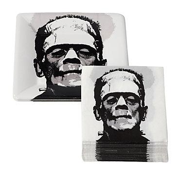 Frankenstein paper plates and napkins