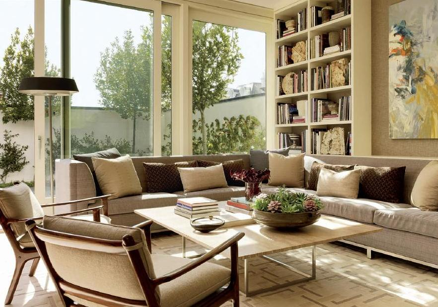 Neutral Living Room With Shades Of Tan