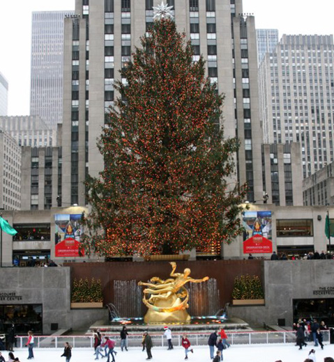 Rockefeller Center Christmas tree and ice rink
