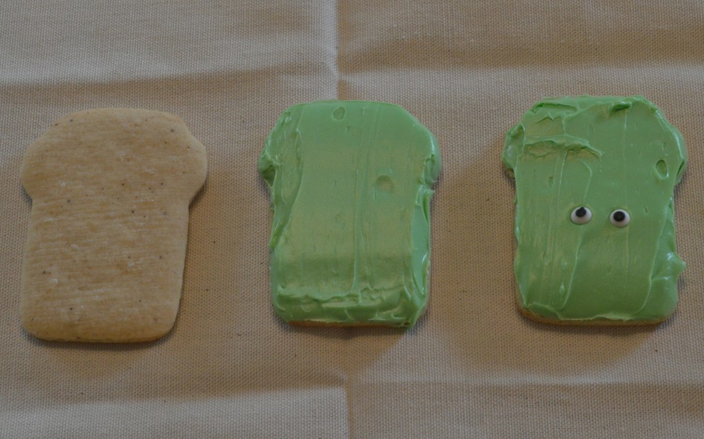 How to decorate a Frankenstein cookie