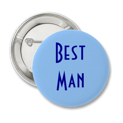Best Man Button for a Wedding Rehearsal