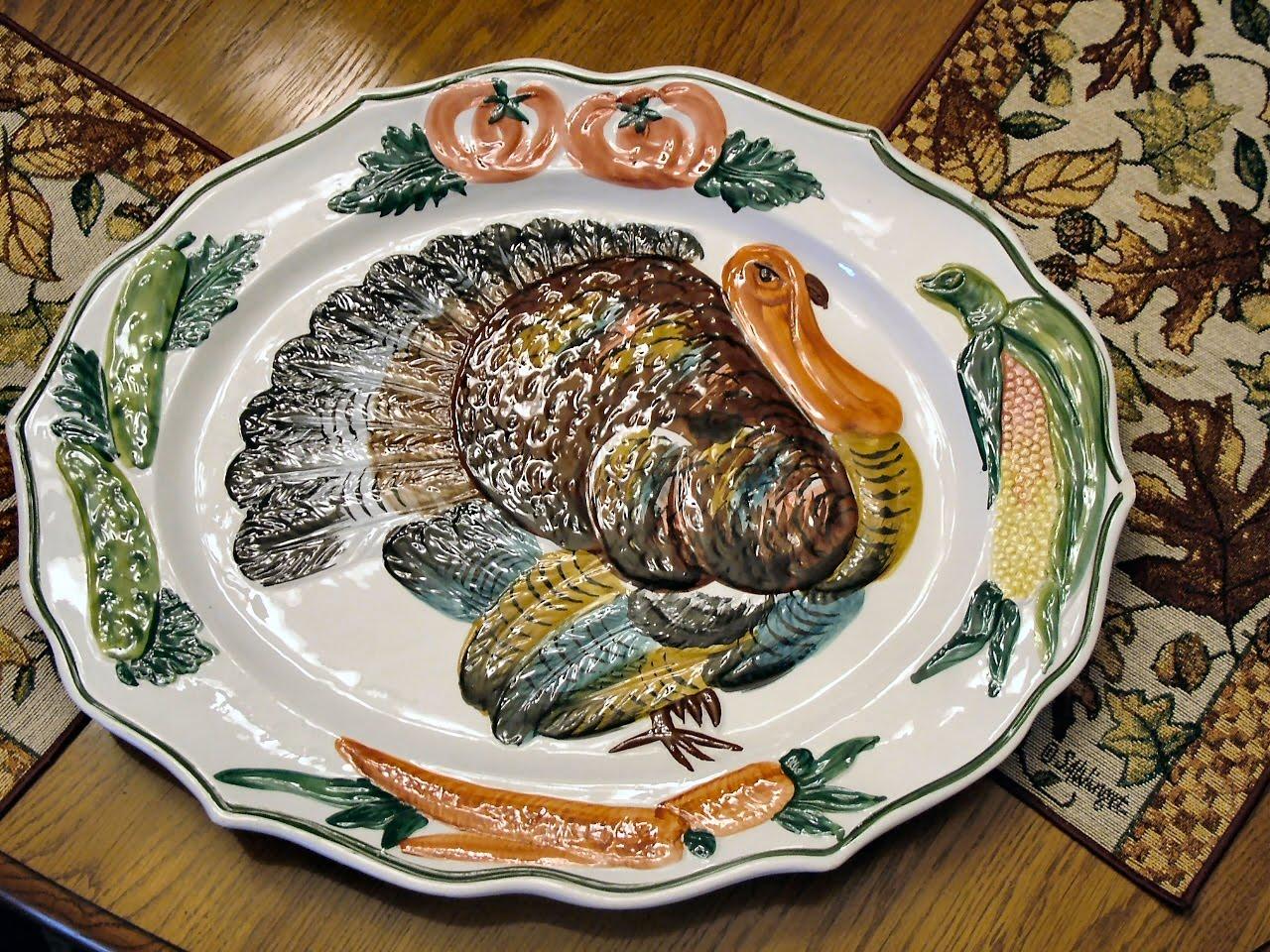 Thanksgiving Turkey Plate Or Platter For Serving