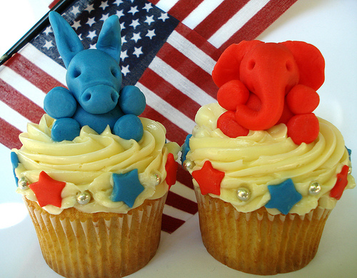 Political Election cupcakes