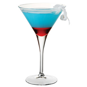 Red, White and Blue Martini