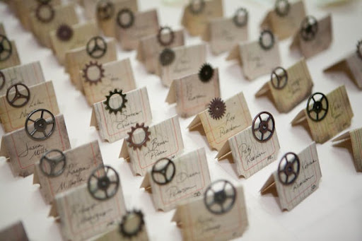 Steampunk place cards