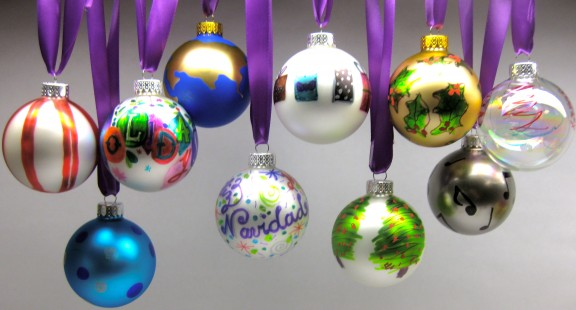 Sharpie-embellished Christmas ornaments - Sharpie-embellished Christmas Ornaments - Celebrate & Decorate